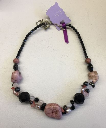Rose Quartz Rhodonite & Freshwater Pearls Necklace